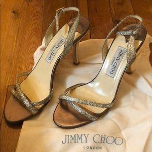 Jimmy Choo India GFA Champagne Size 38